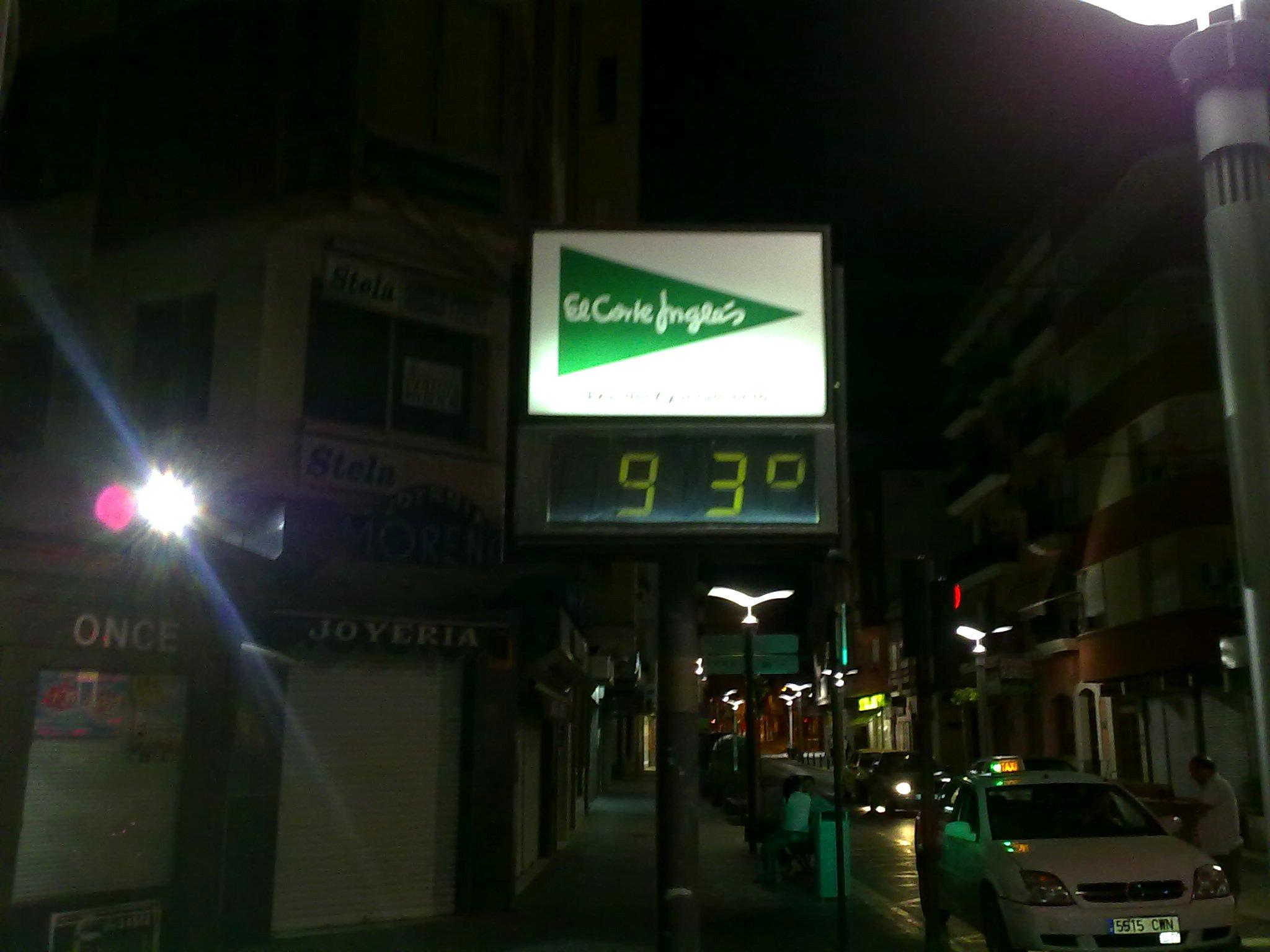 A la máquina del tiempo se le da mal la temperatura
