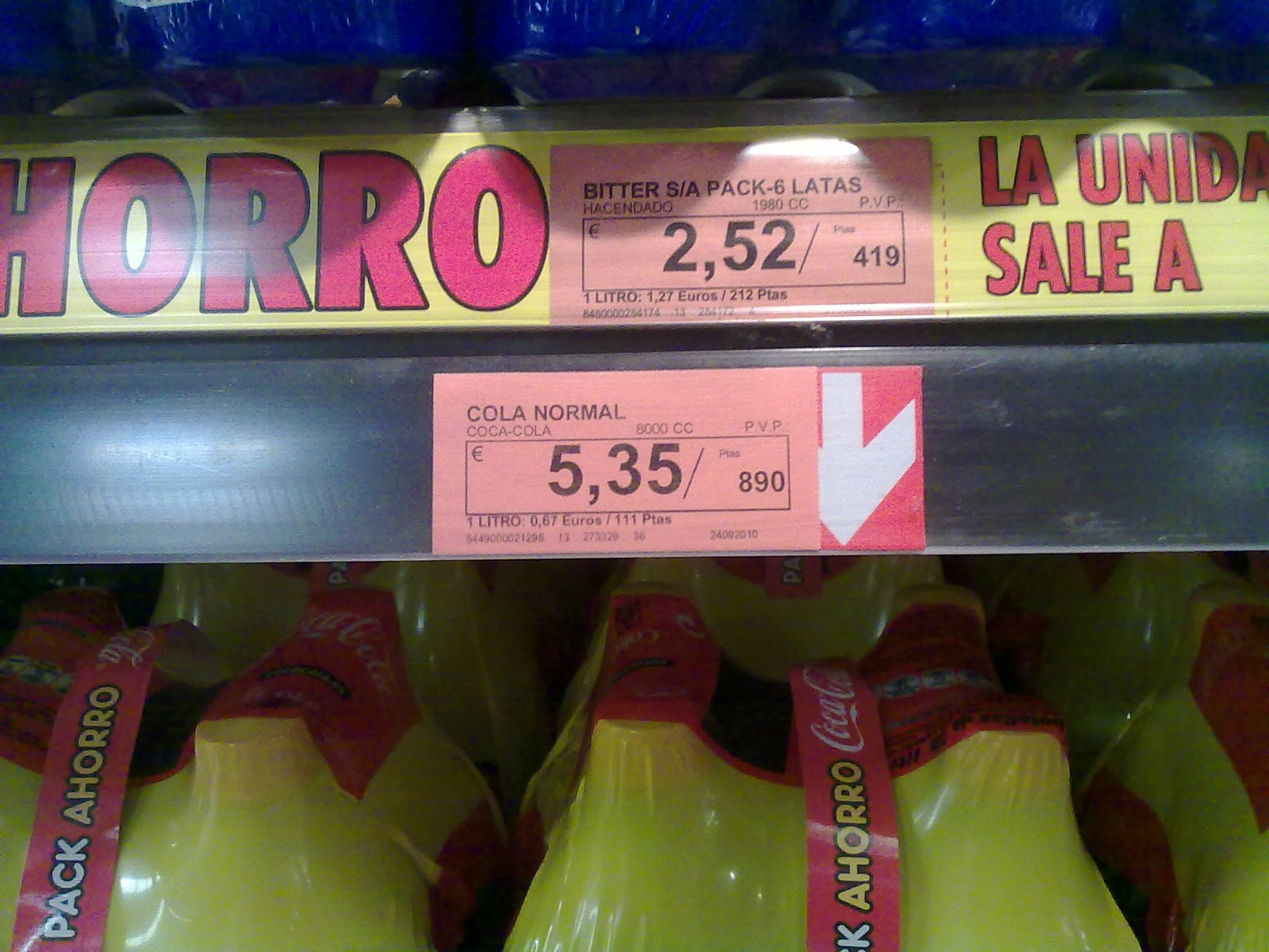 Coca Cola. Pack de 8 litros