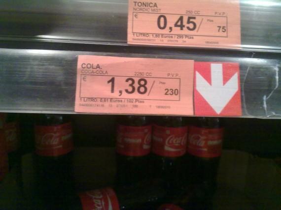 Coca Cola. Botellas individuales